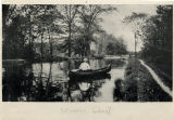 Morris Canal, with view of canoe, circa 1900,  Morris County, NJ