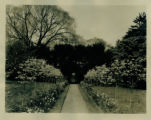 McAlpin residence, formal garden, #69 Madison Ave., circa 1932, Morristown, NJ