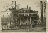 All Soul's Hospital, after fire, Mt. Kemble Avenue, 1918, Morristown, NJ