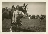 Horse show, young woman and horse, not dated, Morristown, NJ