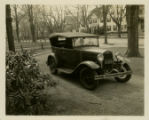 Franklin Place, automobile in driveway, view from left, 1935, Morristown, NJ