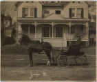 Harrison Street, Mitchell house, circa 1900, Morristown, NJ