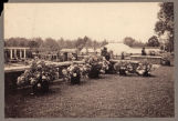 Formal gardens, unidentified estate, circa 1900, Morris County, NJ