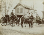 "Madison Hose Carriage ""Pat"" Dougherty in carriage, circa 1900, Madison, NJ"