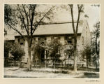 Vail house, Alfred Vail on Porch,  South Street, circa 1900, Morristown, NJ