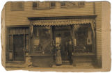 J.J. Davis, shoe repair and sales, circa 1900, Morristown, NJ