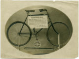 Muchmore store window, bicycle, circa 1900, Morristown, NJ