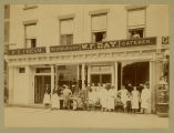 W.F. Day, restaurant, confectioner and caterer, group photograph, 1889 or 1890, Morristown, NJ