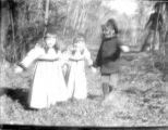 Glass plate negatives, outdoor portraits of children, in coats, circa 1900,  Morris County, NJ
