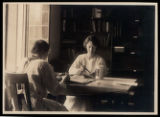Morristown & Morris Township Library Interior, 1 Miller Road, women seated at table, 1922,...