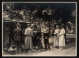 Morristown & Morris Township Public Library, Book Car and patrons on South Street, 1922,...