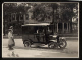 Morristown & Morris Township Public Library, Book Car on South Street, 1922, Morristown, NJ