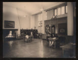 Morristown & Morris Township Public Library interior, 1 Miller Road, early 20th century,...