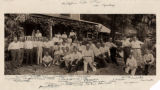 Morristown officials at outing, group photograph at cottage of Clifford Mills,  August 1, 1917,...