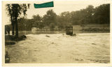Flood, broken dam at Lake Pocahontas, flooding lower Water St., 7/23/1919, Morristown, NJ