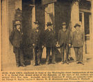 Civil War Veterans in front of A.T.A. headquarters, Red Cross parade, 1918, Morristown, NJ
