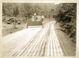 Road crew oiling a dirt road, ca.1930, Morris County, NJ