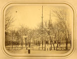 Old First Presbyterian Church on the Morristown Green, before 1871, Morristown, NJ