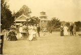 Garden party in yard, Whippany river Club?, 1897, Morristown, NJ