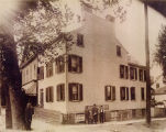 Spring and Morris Streets, Leonard family home, circa 1900, Morristown, NJ