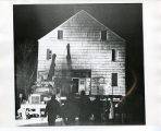 Estey house, attaching truck to move house  from Spring street to Speedwell Village, Spring...