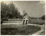 Speedwell Lake, stone dam, W.P.A. photo, circa 1940, Morristown, NJ