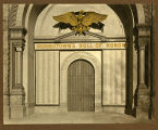 Morristown Armory, eagle and honor roll, South Street, ca. 1918, Morristown, NJ