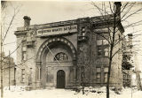 Morristown Armory after fire, South Street, circa 1920, Morristown, NJ
