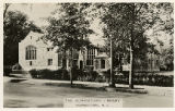 Morristown library showing new children's wing, South Street, circa 1937, Morristown, NJ