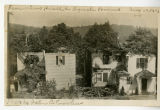 Western Ave., rear view of Lynch home after fire, 1913, Morristown, NJ