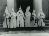 Ku Klux Klan gathering in front of Chester Federated Church, 6/20/1926, Chester, NJ