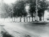 Ku Klux Klan marching on road, 6/20/1926, Chester, NJ