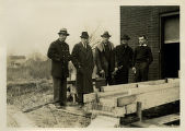 Brookside Reservoir, officials, not dated, Mendham, NJ
