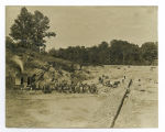 Brookside Sewer, construction site, before 1909,  Mendham, NJ