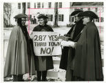 Washington's Headquarters, residents protesting proposed route of I-287 construction, 2/22/1969-70?, Morristown, NJ