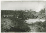 Morris Canal, factory near river rapids, circa 1900, Morris County, NJ