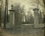 Whippany River Club, (Higgins Estate) entrance pillars, not dated, Morris Township