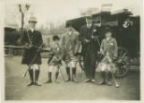 Whippany River Club coach ride, group photo of riders, circa 1900,  Morris County, NJ