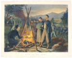 "Print, color, Currier and Ives, ""Life In The Camp, Preparing for Supper"", 1863"