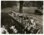 Bathing at Leddell Pond, Jockey Hollow, 08/08/1929, Morris County, NJ