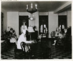 Reading and sitting room at All Souls' Hospital, 10/22/1929, Morristown, NJ