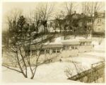 Row of garages at the rear of 10 Prospect St., 1/24/1930, Morristown, NJ