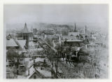 Downtown Morristown from the St. Peter's church tower, 08/10/1931, Morristown, NJ