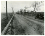 Automobile accident site on Columbia Road, 01/04/1934, Morristown, NJ