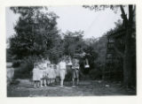 Group of children at 21 Liberty St. in Collinsville with homemade tramway, 08/05/1926, Morris...