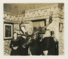 Mrs. D. A. Cole and Miss Cook with elk head, 02/21/1905, Morristown, NJ