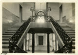 Morristown Municipal Building, Main stairway, (Vail Mansion)  2/21/21, Morristown, NJ