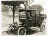 John Dolan in his Ford taxi, 05/26/1913; Morristown, NJ