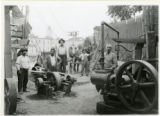 Air compressor hoisting machine on Greenberger job, High Street, 08/19/1916, Morristown, NJ