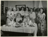 Ladies in charge, historical exhibit, First Presbyterian Church, 11/22/33, Morristown, NJ